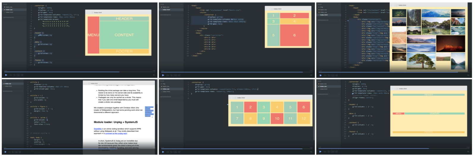 How to recreate Medium\'s article layout with CSS Grid