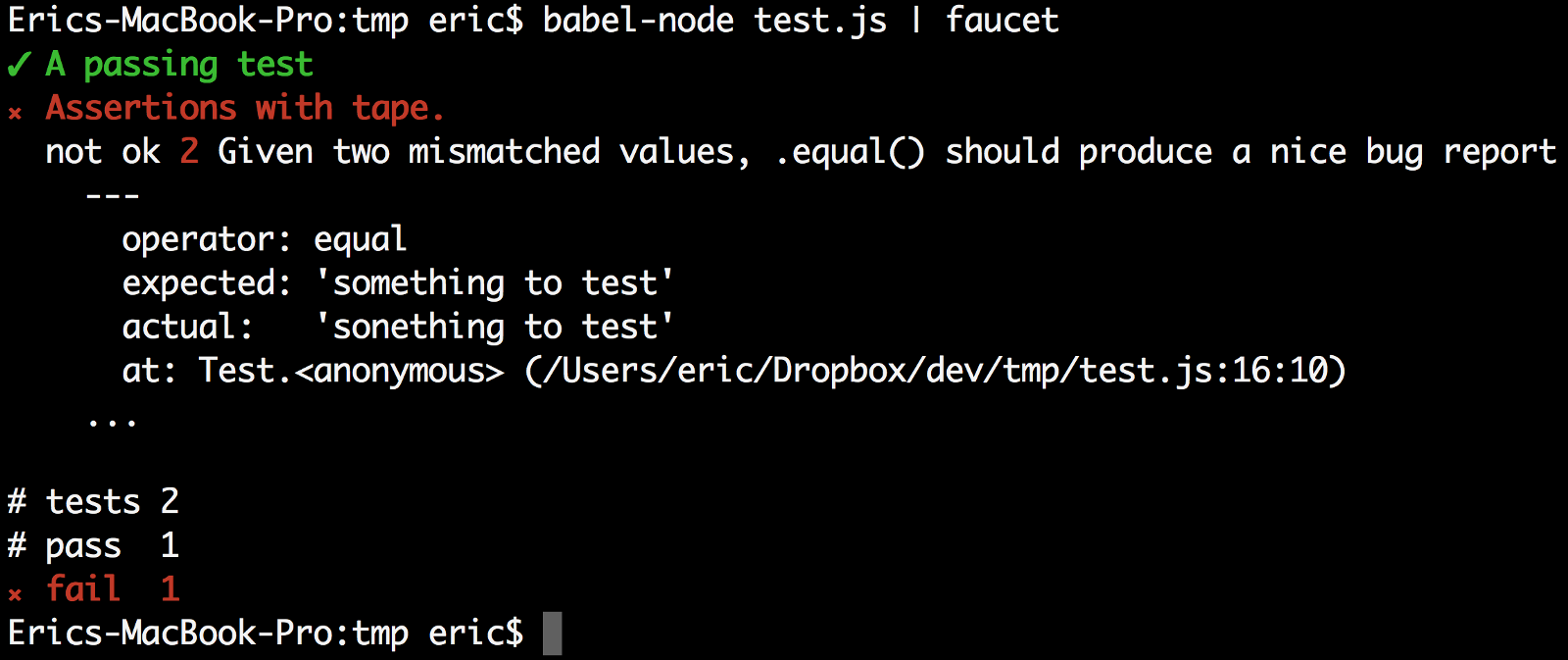 Remember that bland test output above? Here's what it looks like: