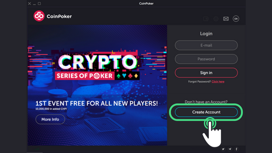 Guide to Getting Started on CoinPoker Step 3