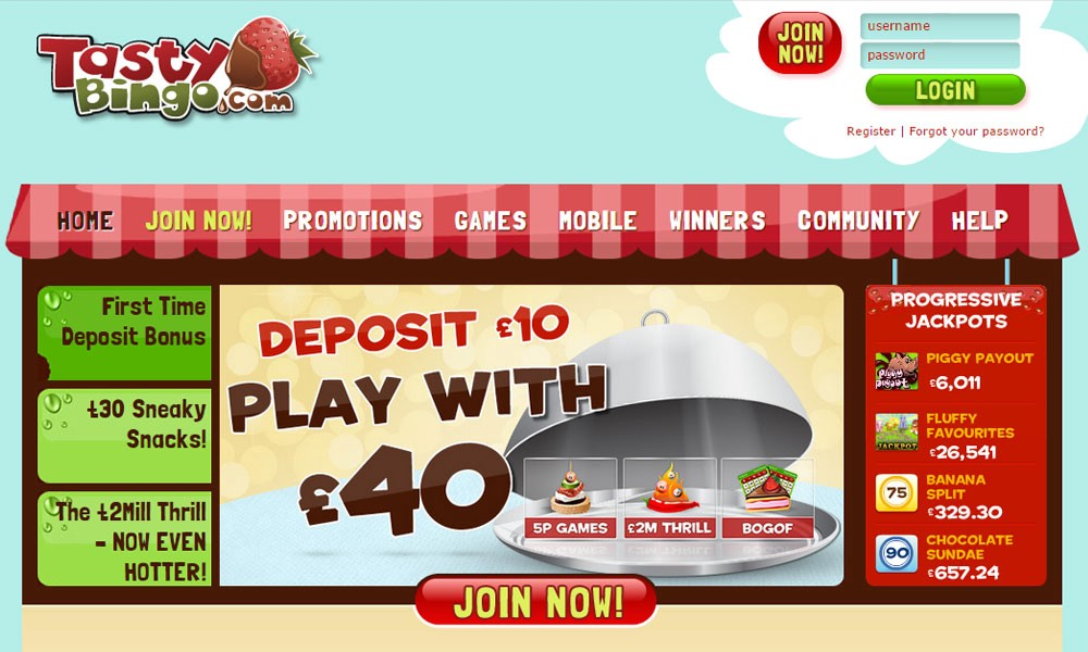 Tasty Bingo Is One Of The New Joiners In Online League And Claim To Be Freshest Tastiest Site Gradually Has Made Its