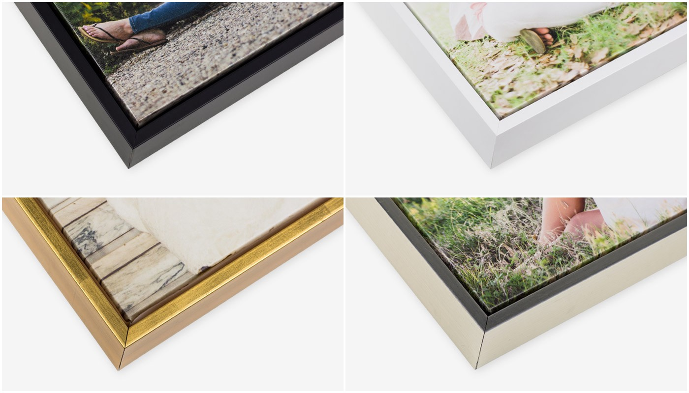 this classic style is a welcome addition to our existing line of float frames for premium gallery wraps they join our collection of timeless wire brushed - Float Frame