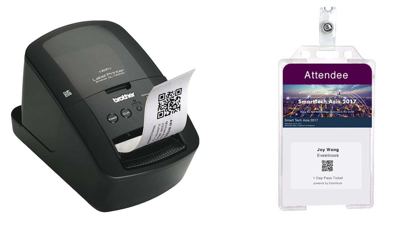 Choosing the right name badge printer for your event for Brother label printer templates