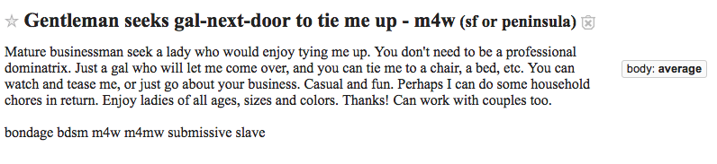 Craigslist east bay casual encounters