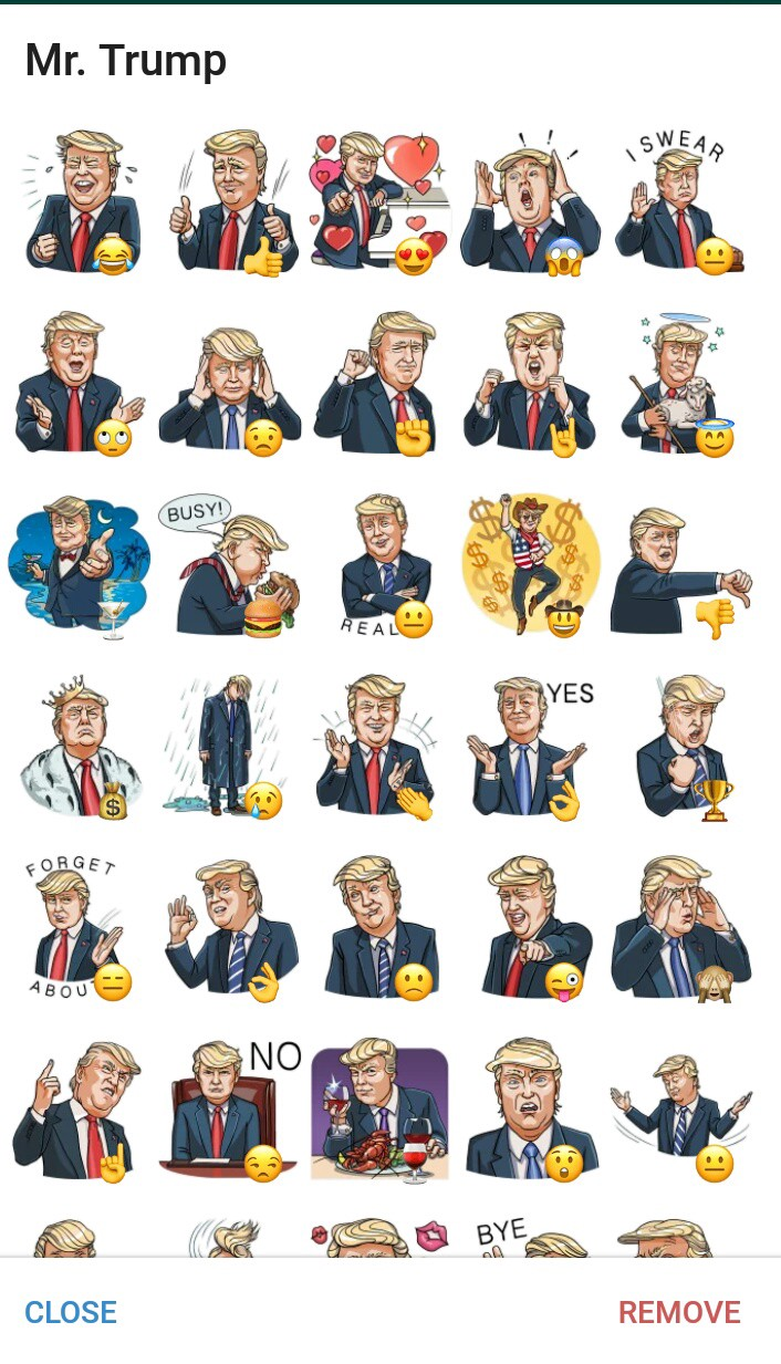 Donald Trump Stickers Goes Viral !! On Telegram Messenger. Mrsa Pneumonia Signs. 1.7 Banners. Airmesh Banners. Bus Decals. Printed Banners And Signs. Low Lobe Signs. Blue Neighbourhood Lettering. Monster Signs