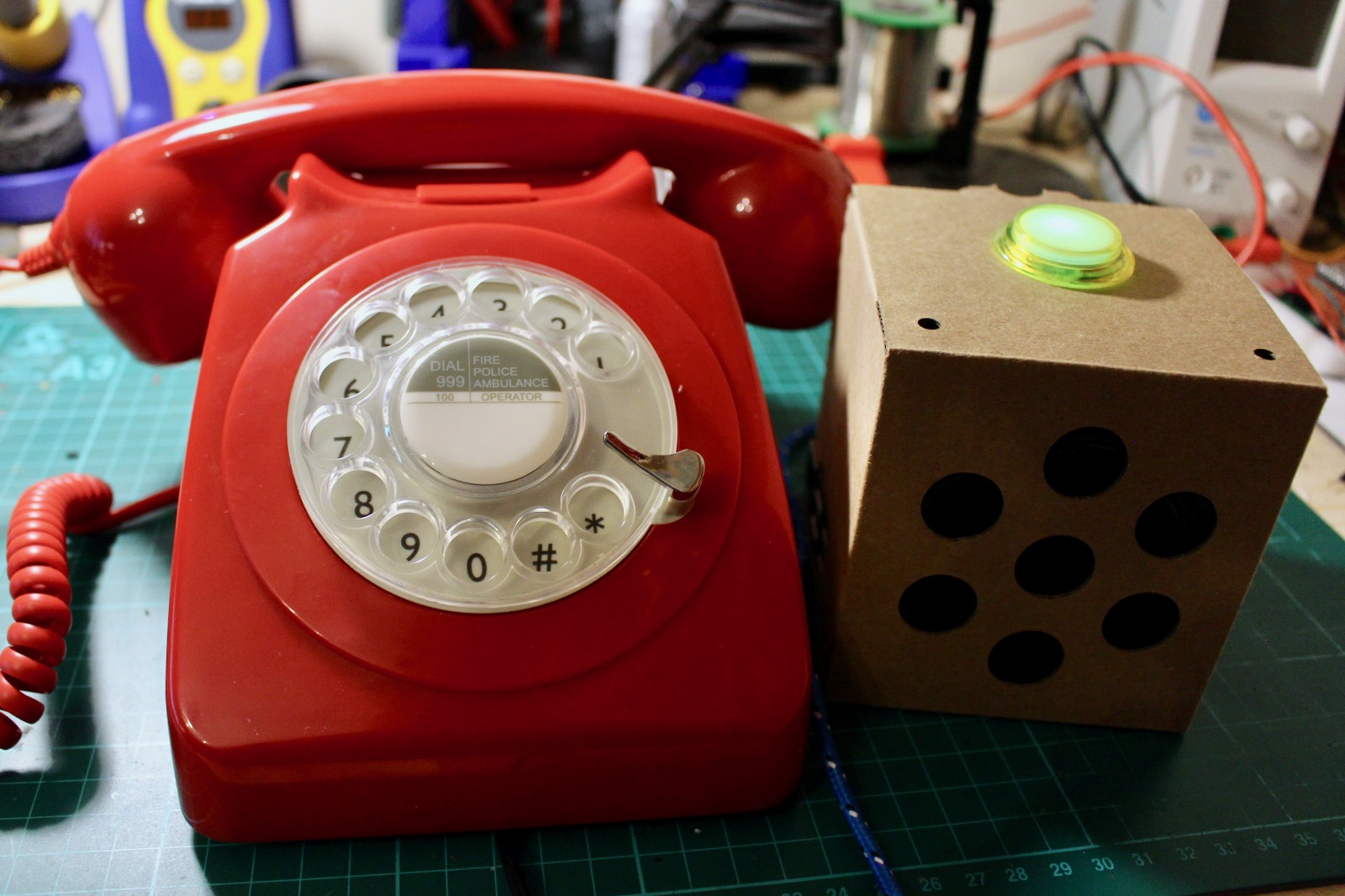 A Retro Rotary Phone Powered By Aiy Projects And The Raspberry Pi Telecom Hybrid Circuits For Other Equipments Than Telephones My New Build Next To Original Voice Kit
