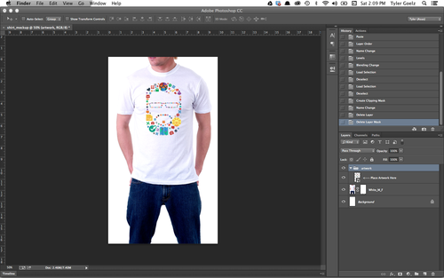 How To Put Any Design On A Shirt Using Photoshop Code Drunk