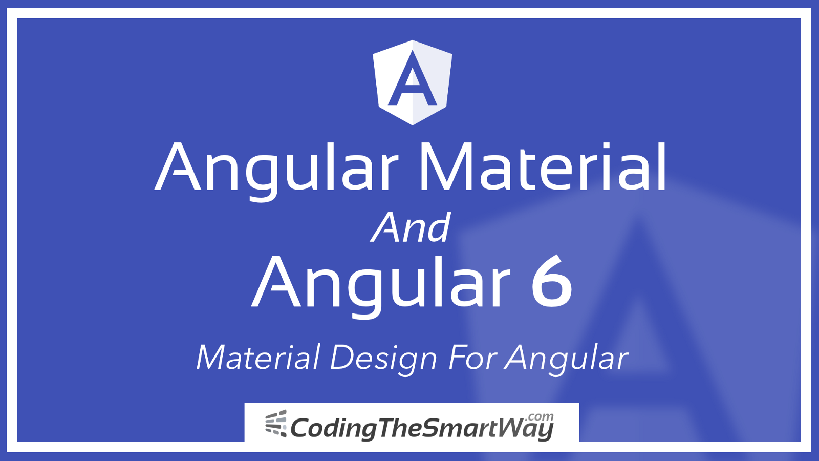 angular material for angular 6