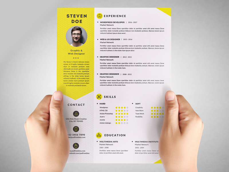 This Free Resume CV Is A Professional, Clean U0026 Modern Template That Will  Make You Stand Out From The Crowd. Clean Resume Templates Are  Professionally ...  Design Resume Templates Free