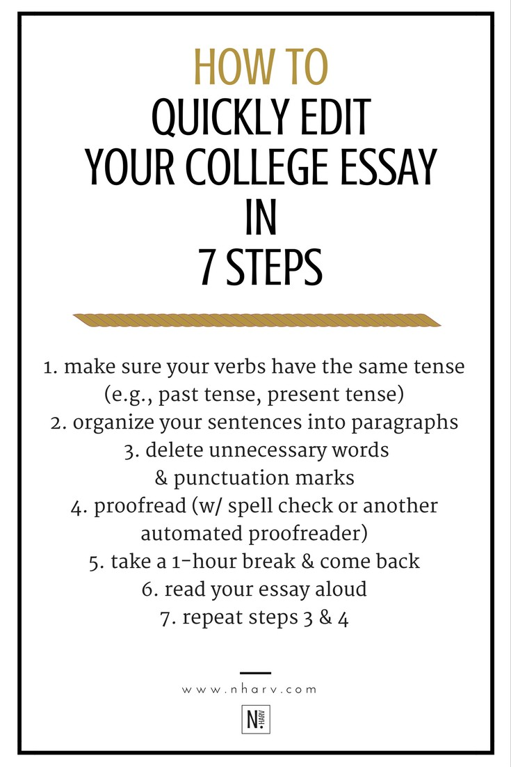 College Research Essay  Essay On Blindness also Narrative Essay Format How To Quickly Edit Your College Essay In  Steps  Nailah  Proof Read My Essay