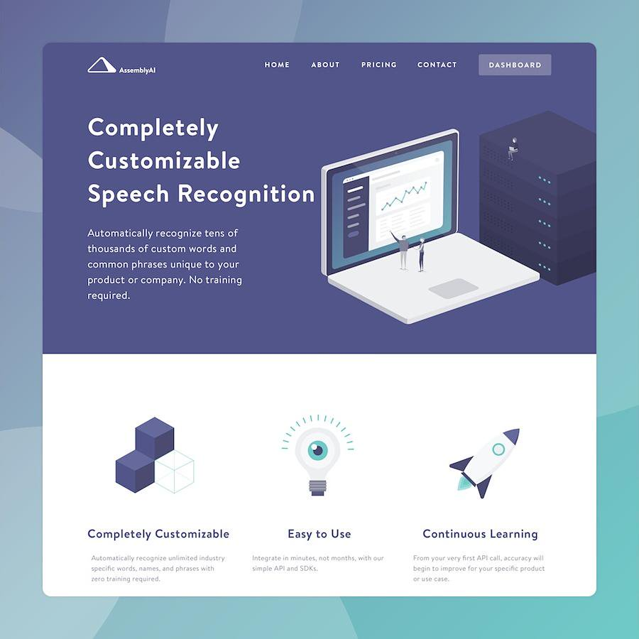 AssemblyAIs Web Design With The Color Scheme