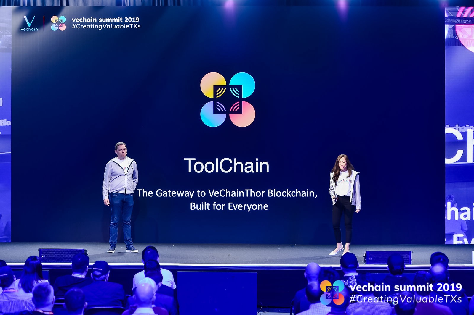 Jerome Grilleres (VeChain Europe General Manager) & Sarah Nabaa (VeChain SEA & Australia General Manager)