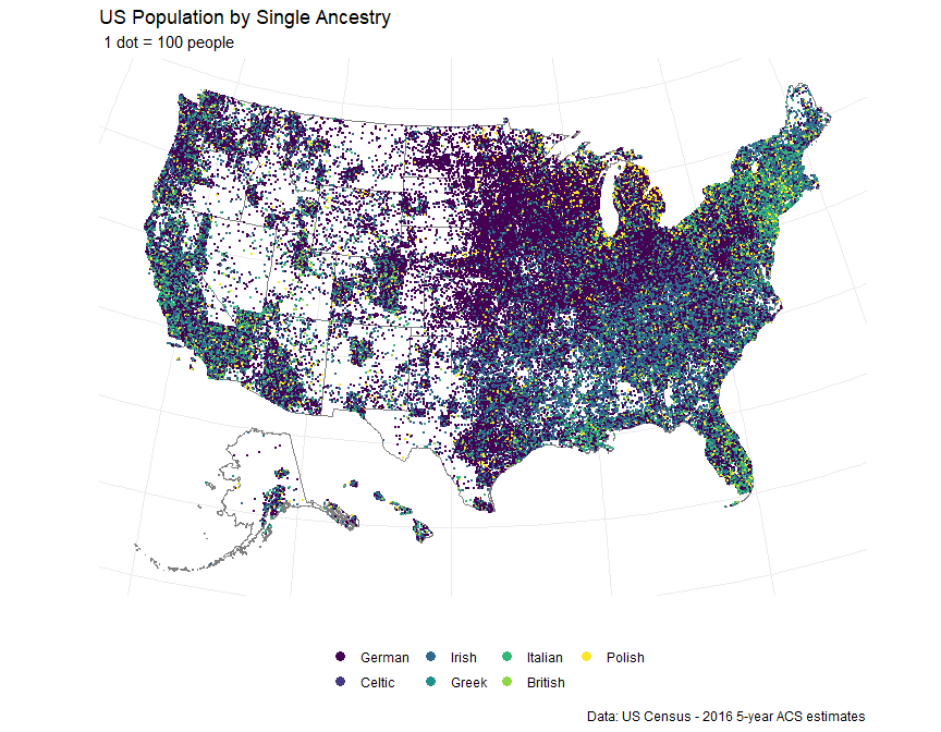 Map Of America By Race.We Are America Towards Data Science