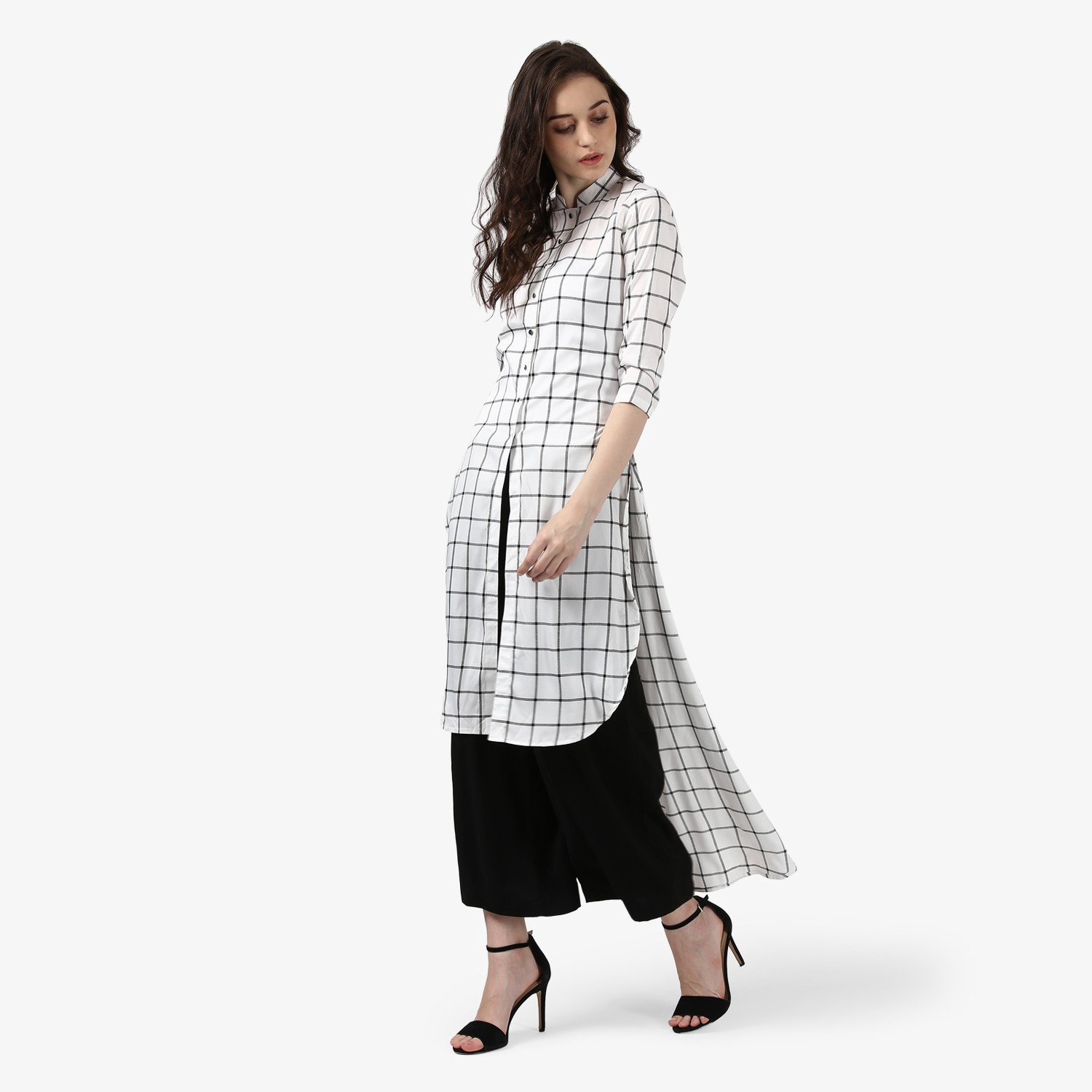 1ced24469efb0 It is one of the most popular styles of kurti. In this sort of kurti, the  front trim is shorter than the back side. The High-low kurti gives you  sleek looks ...