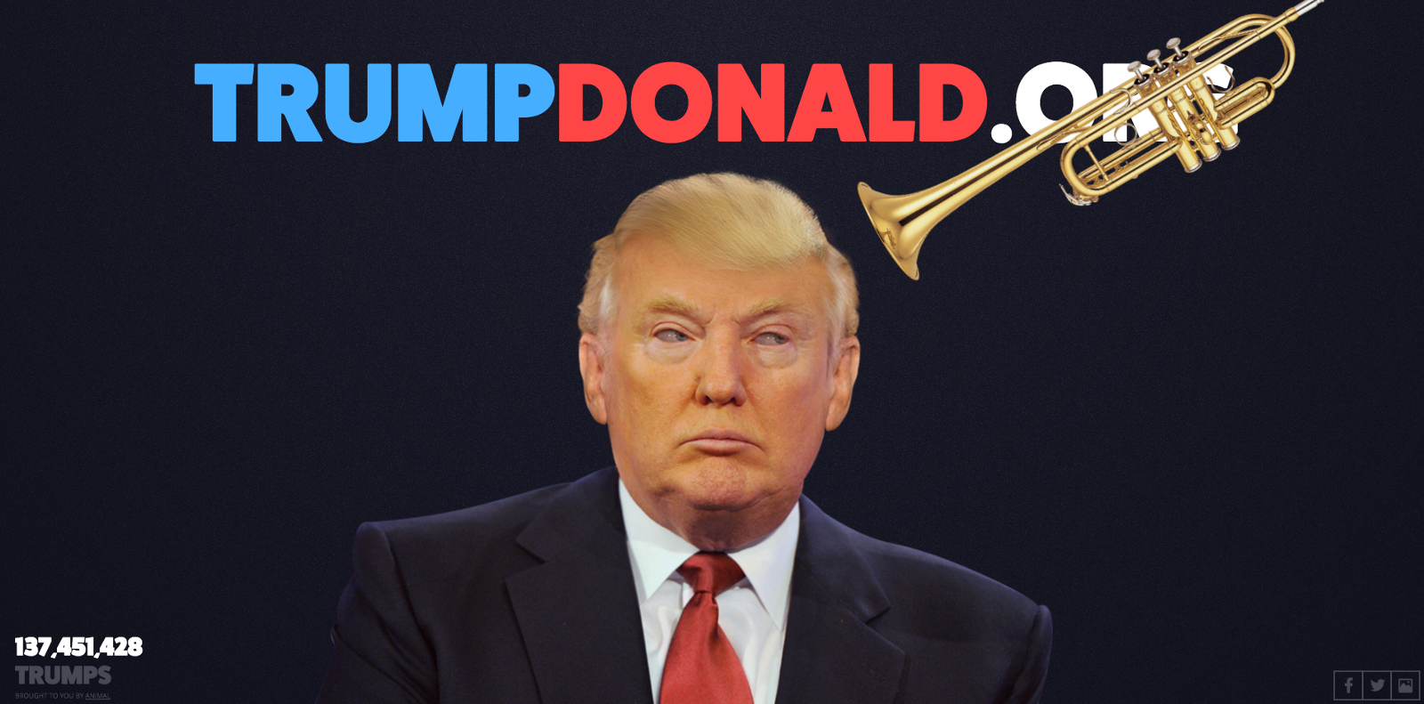 Trump Donald interactive project