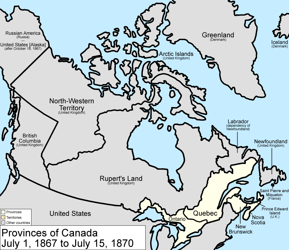How We Think About Louis Riels Mental Health Is Insane Canada At Confederation Note That The Red River Settlement Was Part Of  Ruperts Land At This Time Source Wikipedia