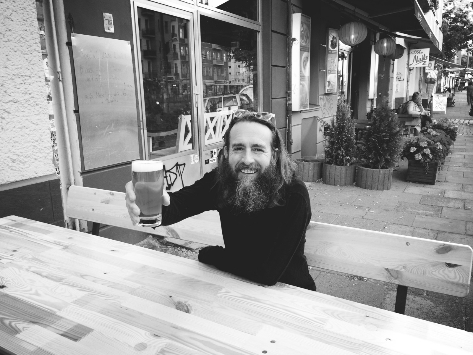 Chairman And Co Founder Greg Koch, Enjoying A Cold One Outside Of Berlinu0027s  Monterey Bar. U0027