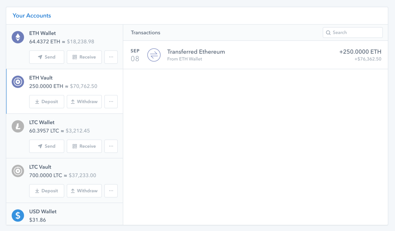 what is usd wallet in coinbase
