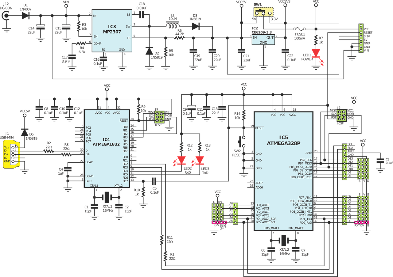 The Ultimate Pcb Design Guide For Startups Hugo Lauzon Medium Diagram Electrical Circuit Drawing Software As Well Simple Example Of A Schematic Arduino Board