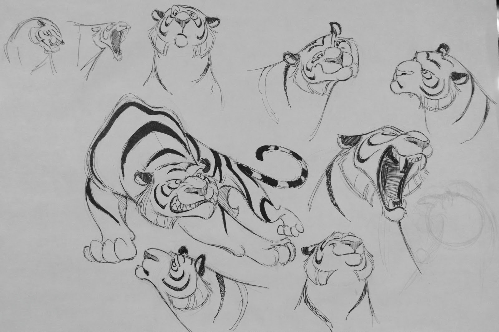 Early concepts for the character rajah from disney animation aladdin by concept artist aaron blaise
