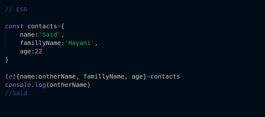 for the array we use the same syntax as the object we have just to replace the curly brackets with square brackets