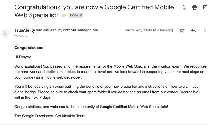 How to become Google Certified Mobile Web Specialist 🚀