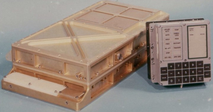One of the small Apollo Guidance Computers, which each of the Apollo Command and Lunar Modules carried onboard – its processing power was comparable to a late 1970s home desktop PC. (Photo credit: NASA).