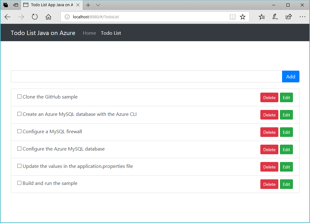 Build a Java and MySQL App on VMs and Containers in Azure