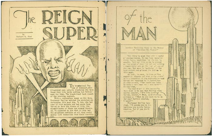 1822a9f3ce  The Reign of the Superman  in the fanzine  Science Fiction  The Advance  Guard of Future Civilization  3  (January 1933) (Credit  Wikimedia Commons)