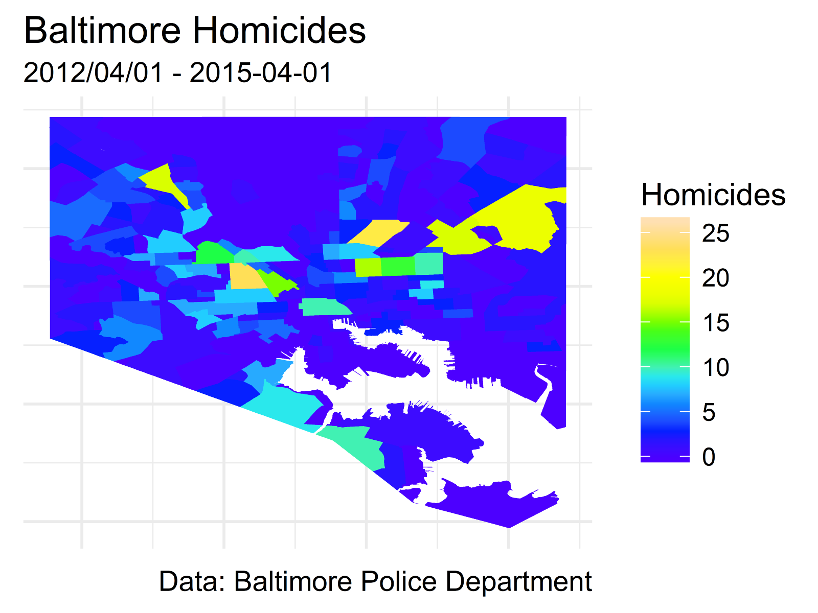 The change in Baltimore homicides since 2015 – Alexander Buck – Medium