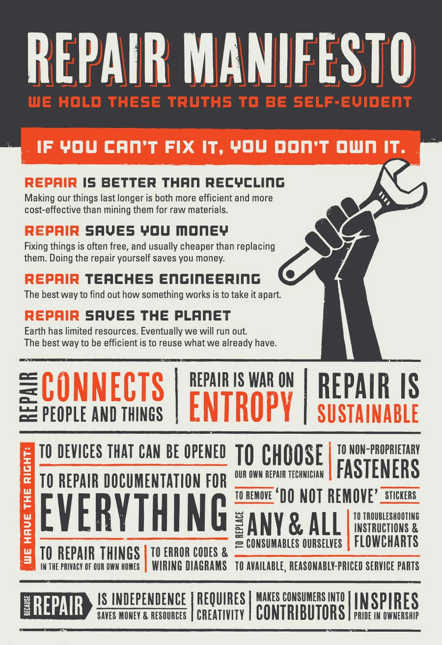 The Self-Repair Manifesto by iFixIt