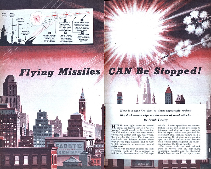 """Flying Missiles CAN be Stopped!"" Mechanix Illustrated, 1949."