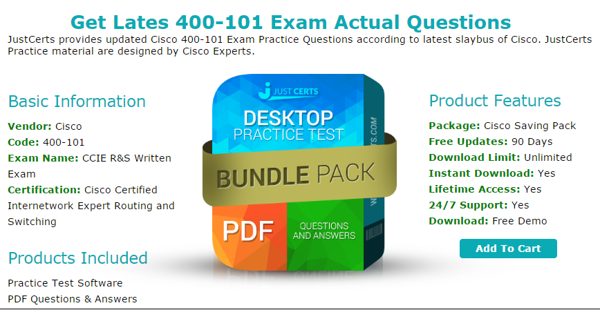 Practice Tests and Cisco 400–101 Real Exam Questions