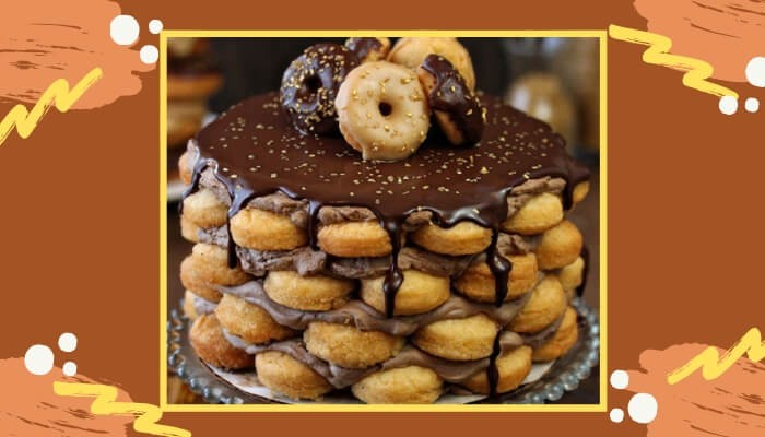 Homemade Doughnut Or Store Bought You Can Use Multiples Of Doughnuts To Make A Birthday Cake Chocolate Dipped Topped With Multicolor Sprinkles Choice Is