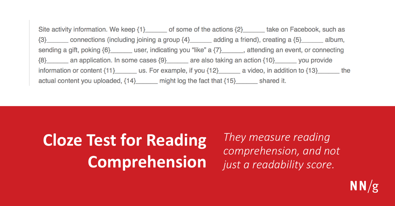 Cloze Testing— The Leading UX Test for Content Comprehension