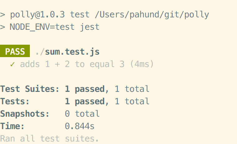 "Installing the jest npm package, changing the ""test"" command of our  project's package.json to simply ""jest"" and creating a ""Hello World"" test  was a matter ..."