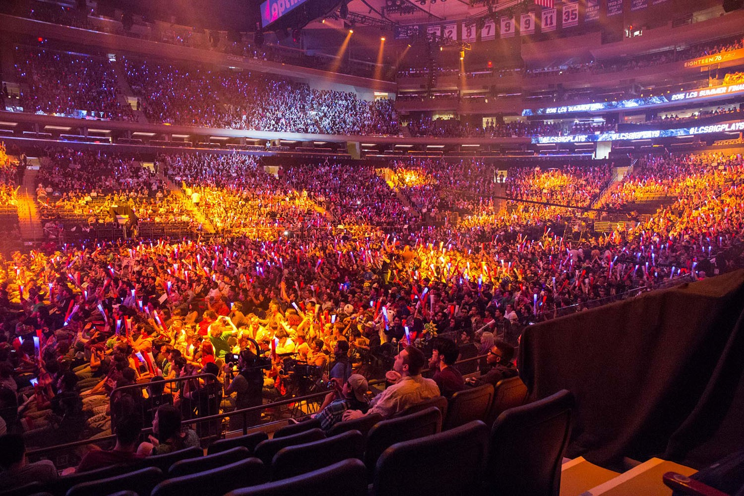 Charming League Of Legends NA LCS Championship Game In Madison Square Garden.  Credit: Mashable