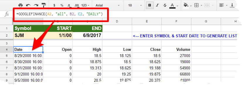 Google Finance Stock Quotes In Excel: Microsoft Excel: Basic PowerQuery
