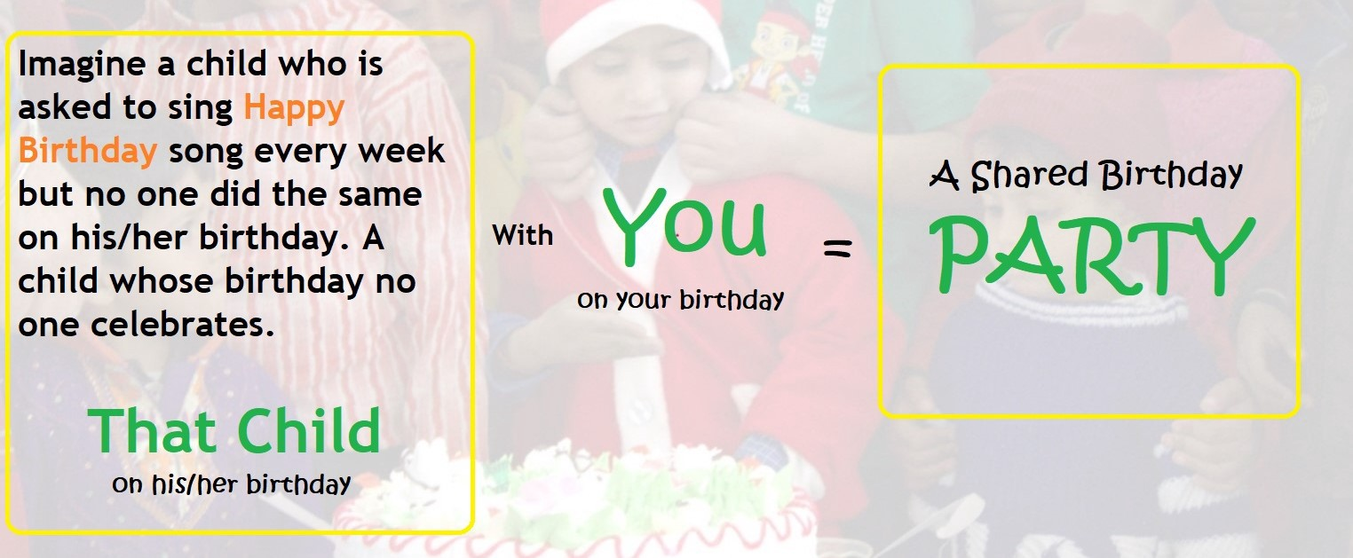 The Shared Birthday Project Is One Of Such Ways In Which You Can Share Joy With Children By Sharing Your Them