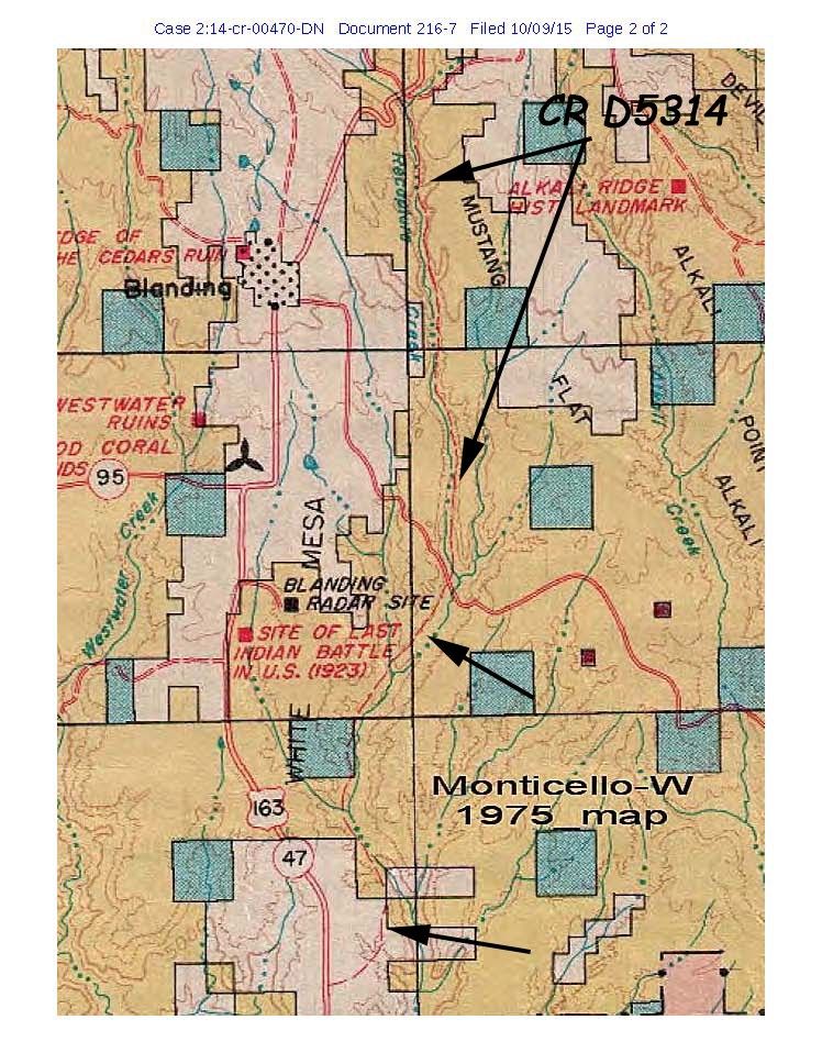 San Juan River Utah Map.The Federal Government Lied About Who Owns Recapture Canyon Road In