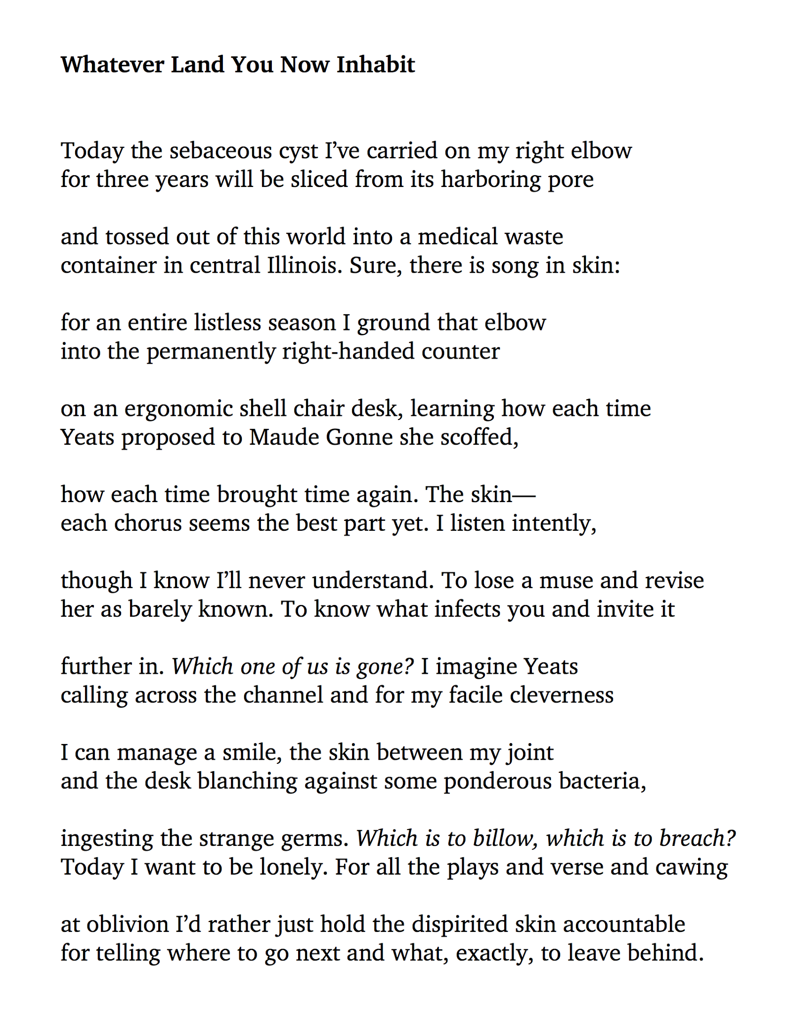 Five Poems By Jess Williard Electric Literature