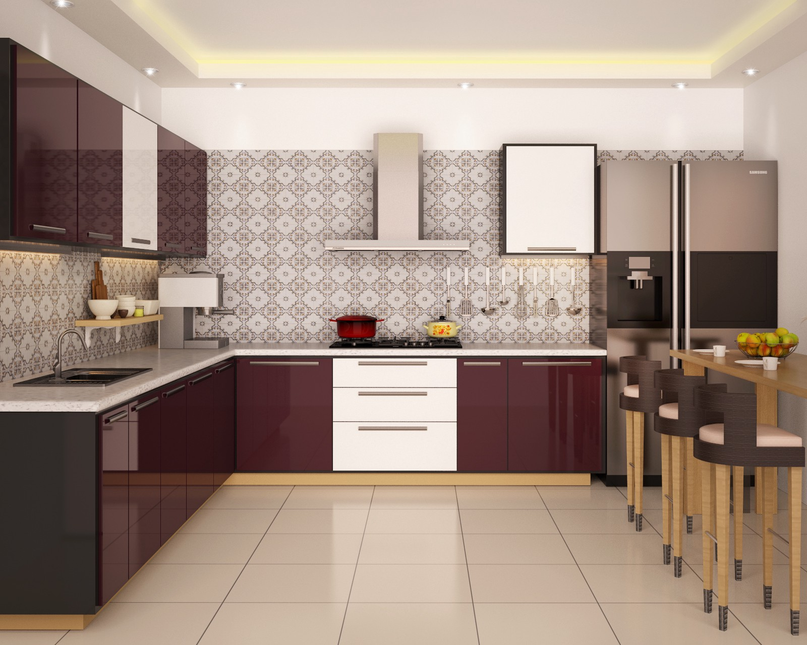 Kitchen Design Incorporates Appliances, Worked In Technology Chimneys To  Utilize It Ideally, Countertops, Slab Work And With Every One Of The  Accessories ...