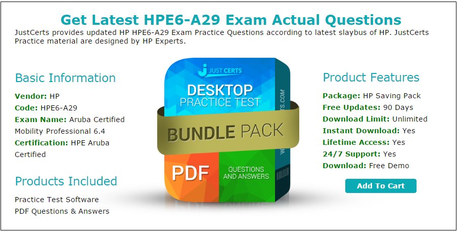 Latest Hpe6 A29 Hpe Aruba Certified Exam Questions Updated 2016