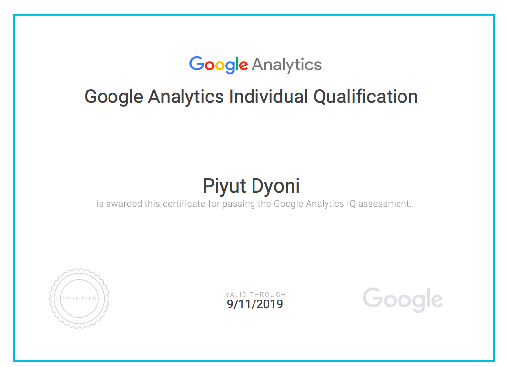 How I Got Certified In Google Analytics Individual Qualification In