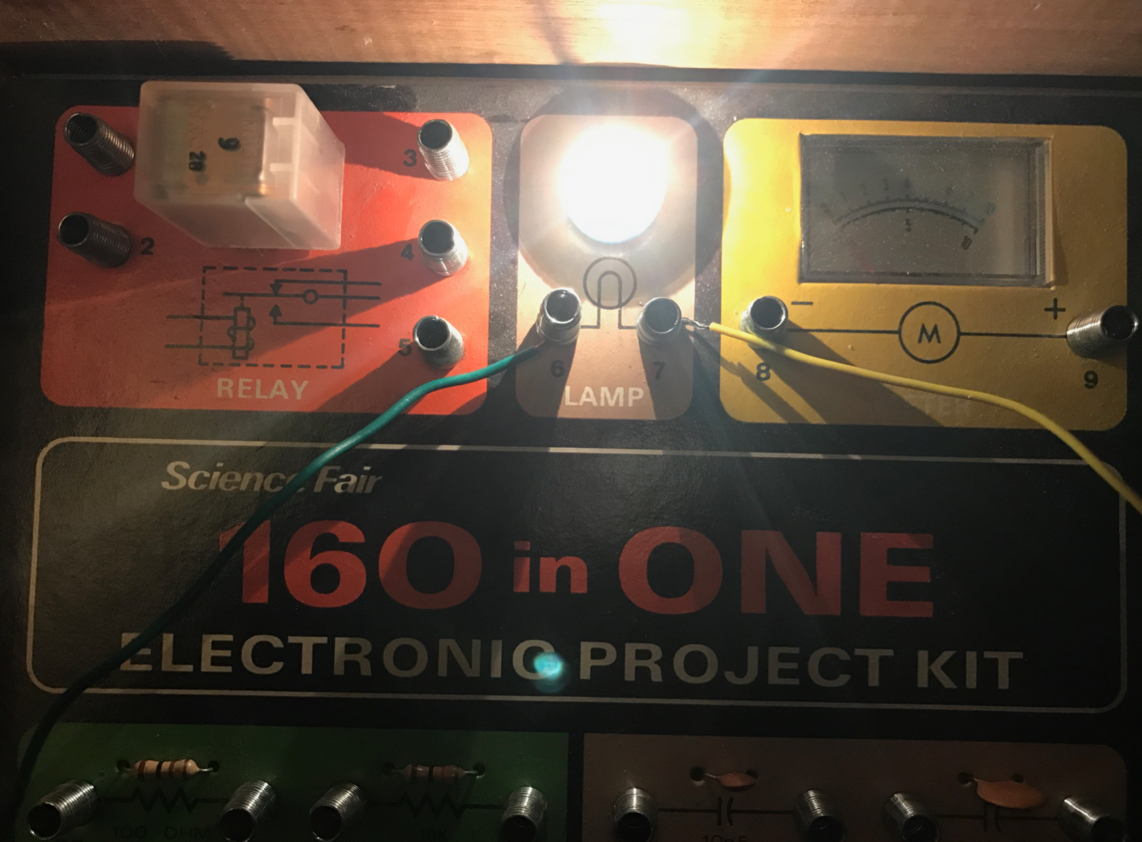 Electronic Project Kits Hands On With A Vintage 160 In 1 82 Breadboard Operational Amplifier Circuit Lights