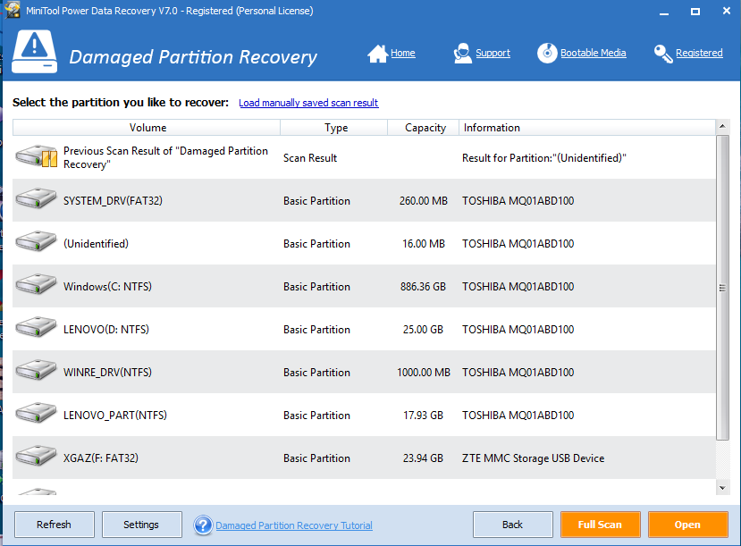 damaged partition recovery