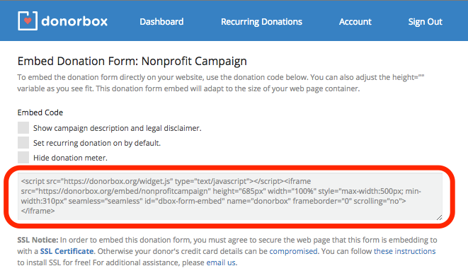 how to integrate a recurring donation form in wix donorbox medium