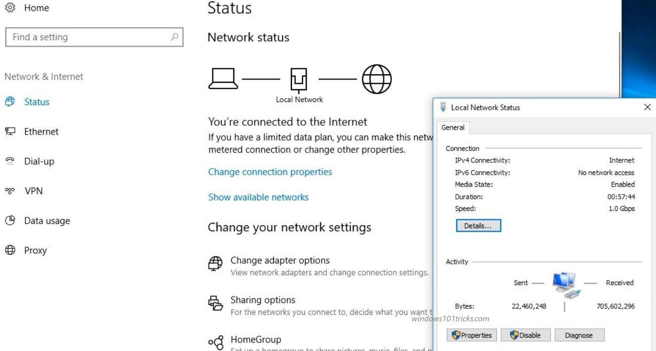 win 10 network connection problem