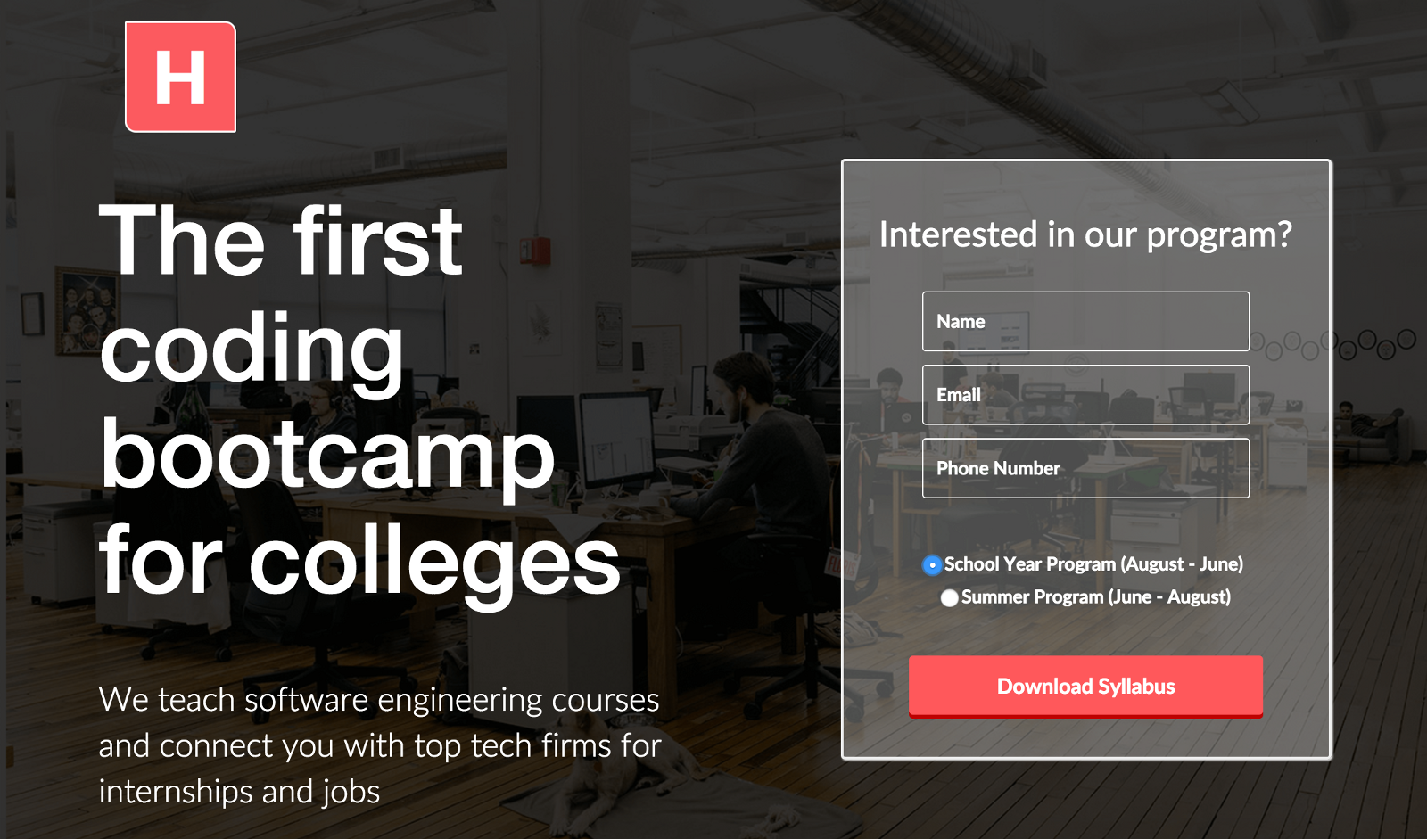 Horizons is a coding bootcamp and career platform in one. Our mission is  simple: we bring real-world, practical software development classes to  college ...