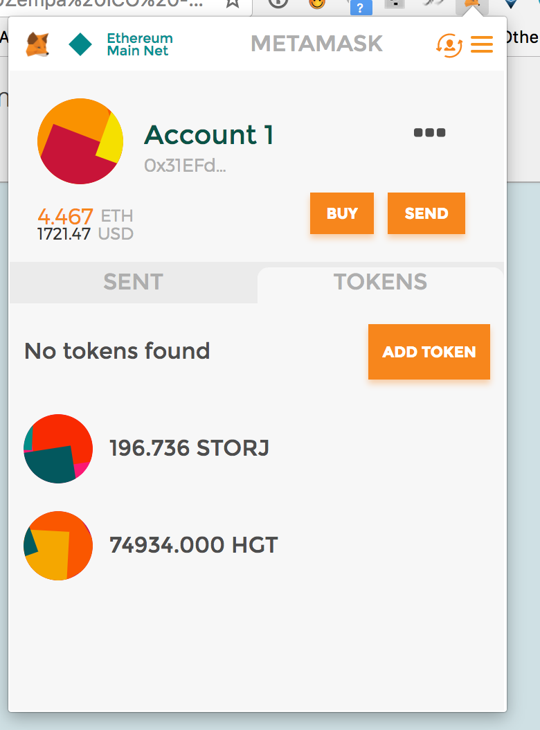 how to add ether address to metamask