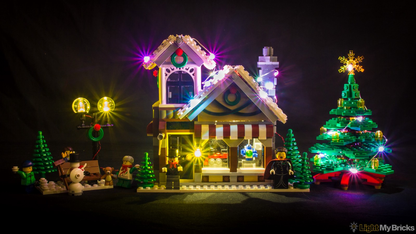light my bricks winter toy shop led lighting kit